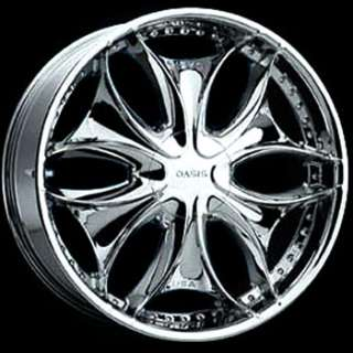 22 Inch Chrome Oasis Wheels Rims & Kumho Tries (265/35/22) For
