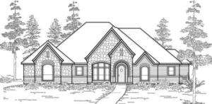 TEXAS Country Style HOUSE PLANS #2690