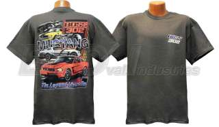 2012 Mustang Boss 302 The Legend Lives On Gray Cotton T Shirt Shirt
