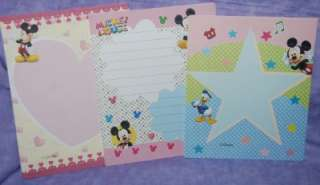 Sheets Disney Mickey & Minnie Mouse Blue/Pink Volume Stationary Letter