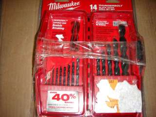 WHIOLESALE LOT 3 ASSORTED MILWAUKEE DRILL ACCESSORIES