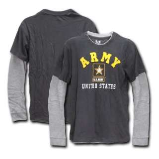 ARMY LONG SLEEVE DOUBLE LAYER T SHIRT US MILITARY SHIRT