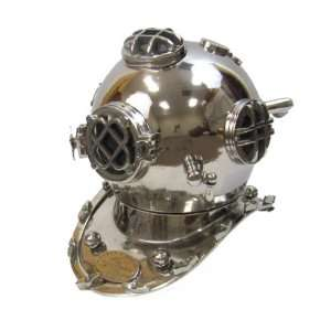 Reproduction U.S. Navy Mark V Aluminum Diving Helmet Home & Kitchen