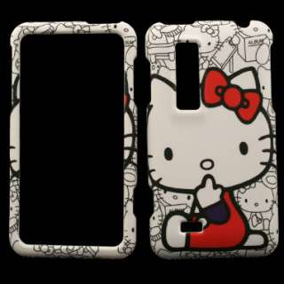 for LG Thrill 4G Hello Kitty Cover Skin Faceplate B Snap on