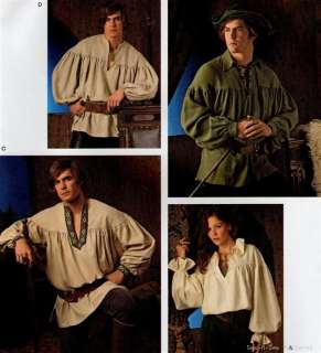 FAB Laced Poet/Pirate/Peasant Shirt PATTERN Blouse Men