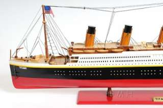 TITANIC SHIP MODEL BOAT WOODEN PAINTED NEW SCALE NOT A KIT!