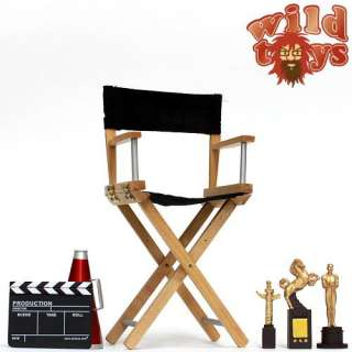 Scale Wild Toys Director Chair & Accessories Set   WT12A Black