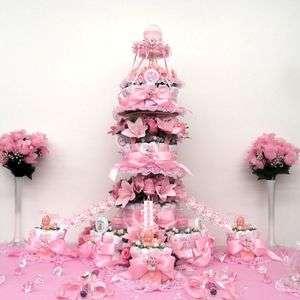 Carousel Girls Baby Shower Diaper Cake Centerpiece/Gift/Decorations