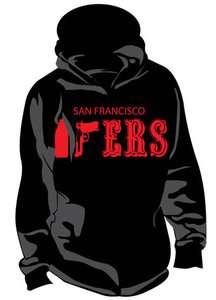 SF San Francisco 49ers 40oz Hoodie Hooded Sweatshirt Black Jacket