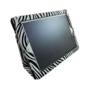 The New iPad / iPad 2 Case, Case Cover with Stand   White/Black Zebra