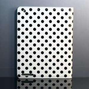 White background with black dot (point)PU leather case/Flip Stand Case