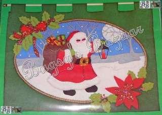 LeeWards COLD WINTER NIGHT Felt Applique Christmas Wall Hanging Kit