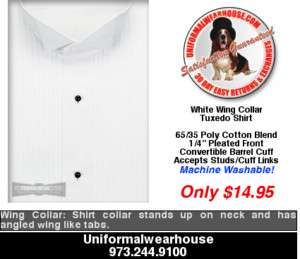 LADIES White WING TIP Tuxedo Shirt Womens ALL SIZES New
