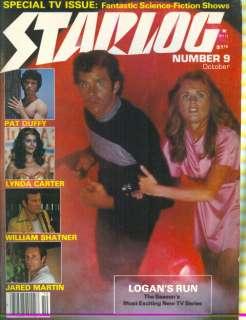 Magazine #9 Logans Run/Pat Duffy/Lynda Carter/William Shatner