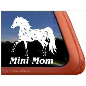 Mini Mom Miniature Horse Appaloosa Vinyl Window Decal