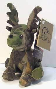 Ducks Unlimited Camo Critters Plush Deer NWT