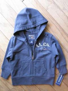 Baby Boys Blue Jacket Hooded American Living Size 18 Months Infant