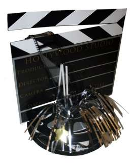 Hollywood 3 D Clapboard & Reel Centerpiece   6041