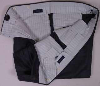 INCOTEX PANTS $1890 CHARCOAL GRAY 100%CASHMERE HANDMADE DRESS SLACKS