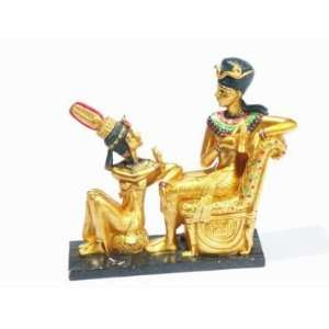 Egyptian Pharaoh & Queen Statue: Home & Kitchen