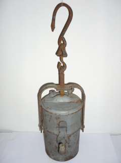Antique Miners FASER Carbide Lamp Lantern 19 Century Poland