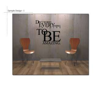 Typography Wall Decor Sticker Vinyl Decal Quote Sayings