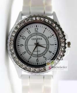 Unisex Sports Classic Gel Silicone Crystal Quartz Jelly Watch