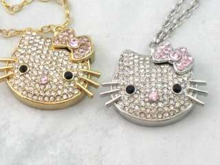 Gold Crystal HELLO KITTY 4gb USB Magnetic Flash Drive