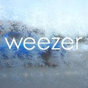 Weezer White Decal Rock Band Car Laptop Window Vinyl White