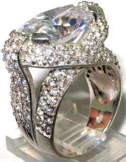 Latest collection Beautiful White topaz .925 Silver Ring size 6