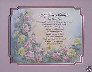 MY OTHER MOTHER PERSONALIZED POEM GIFT FOR STEPMOM