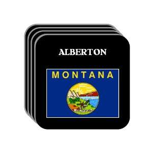 US State Flag   ALBERTON, Montana (MT) Set of 4 Mini Mousepad Coasters