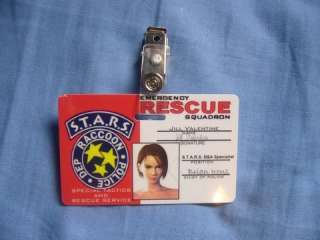 STARS RPD ID Cards Raccoon Police Dept Resident Evil