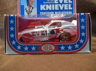 RARE IDEAL 1976 EVEL KNIEVEL DIE CAST PRECISION MINI FUNNY CAR MIB 1ST