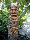 items in Totem Pole Tiki god Statue Carving Bar Wood