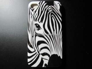 New Zebra Head ven Hard Case Skin Cover For Apple iPhone 4G 4S +Gift