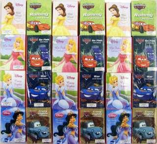 Disney Princess & Cars Mini Card Game 4pk 8 Dif Games
