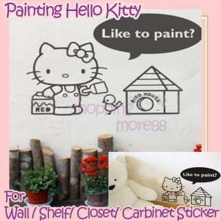 Hello Kitty Wall Sticker Home Deco painting 23.9x16