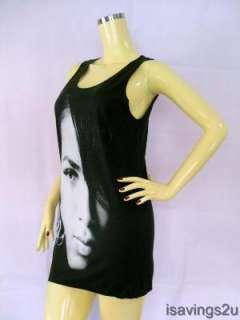 AALIYAH Tank Top, Princess R&B Urban POP Queen BLACK Singlet, T shirt