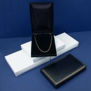 Black Leather Necklace Boxes Gift Showcase Displays