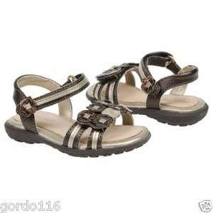 Girls Stride Rite Shoes Sandals Wendy Brown Gold 6   12 Med Wide NIB