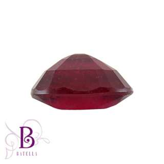 00 Ct Natural Oval Loose Red Ruby Gemstone For Rings Pendants