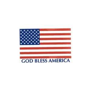 God Bless America USA FLAG Weatherproof Sticker Decal