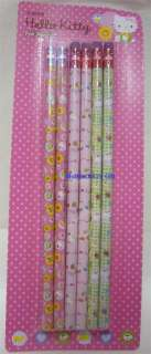 NEW Sanrio Hello Kitty Foil Pencils 6 PCs 3 Designs QQ