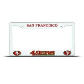 San Francisco 49Ers Plastic License Plate Frame Nfl 094746381431