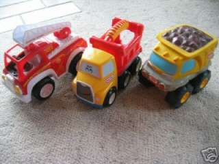 LOT OF 3 TRUCKS LITTLE TIKES PLAYSKOOL SCOOBY DOO