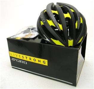 2012 Giro Aeon Matte Black / Yellow Livestrong Bicycle Helmet   Large