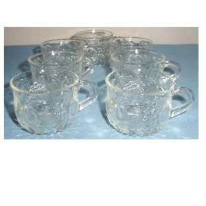 Set of 17 Glass Punch Cups with Fruit Design: Everything Else