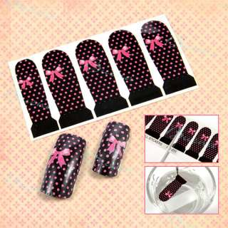 25 Different Styles Professional Nail Art Decals Water Stickers Full