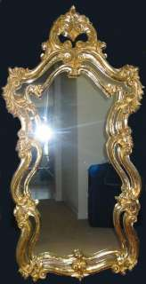 Vintage French Rococo Baroque Style Wall MIRROR Gilt Scrolled FRENCH